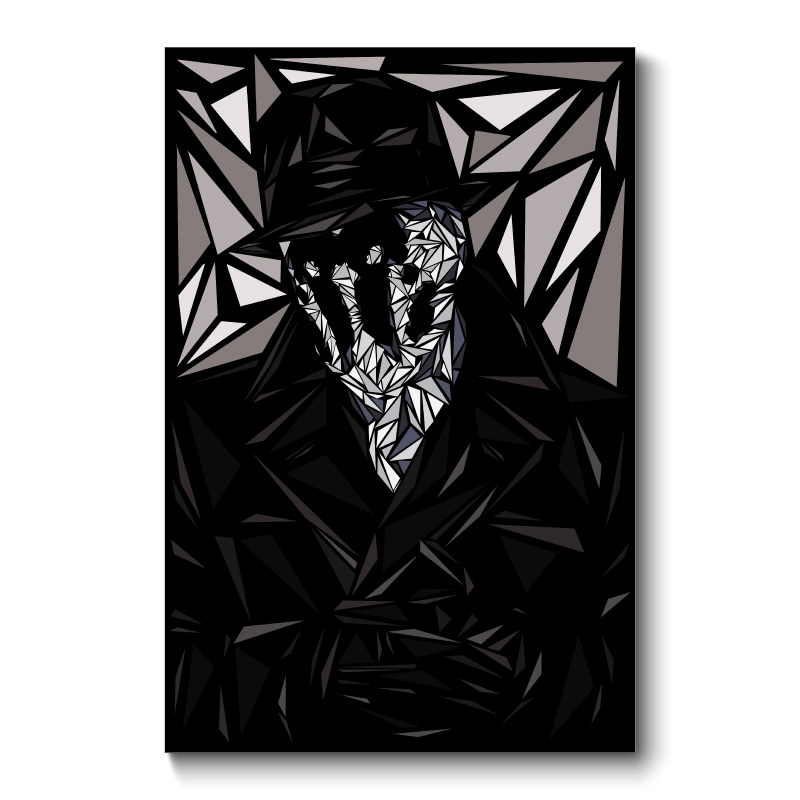 Rorschach Abstract Wall Art Canvas Print